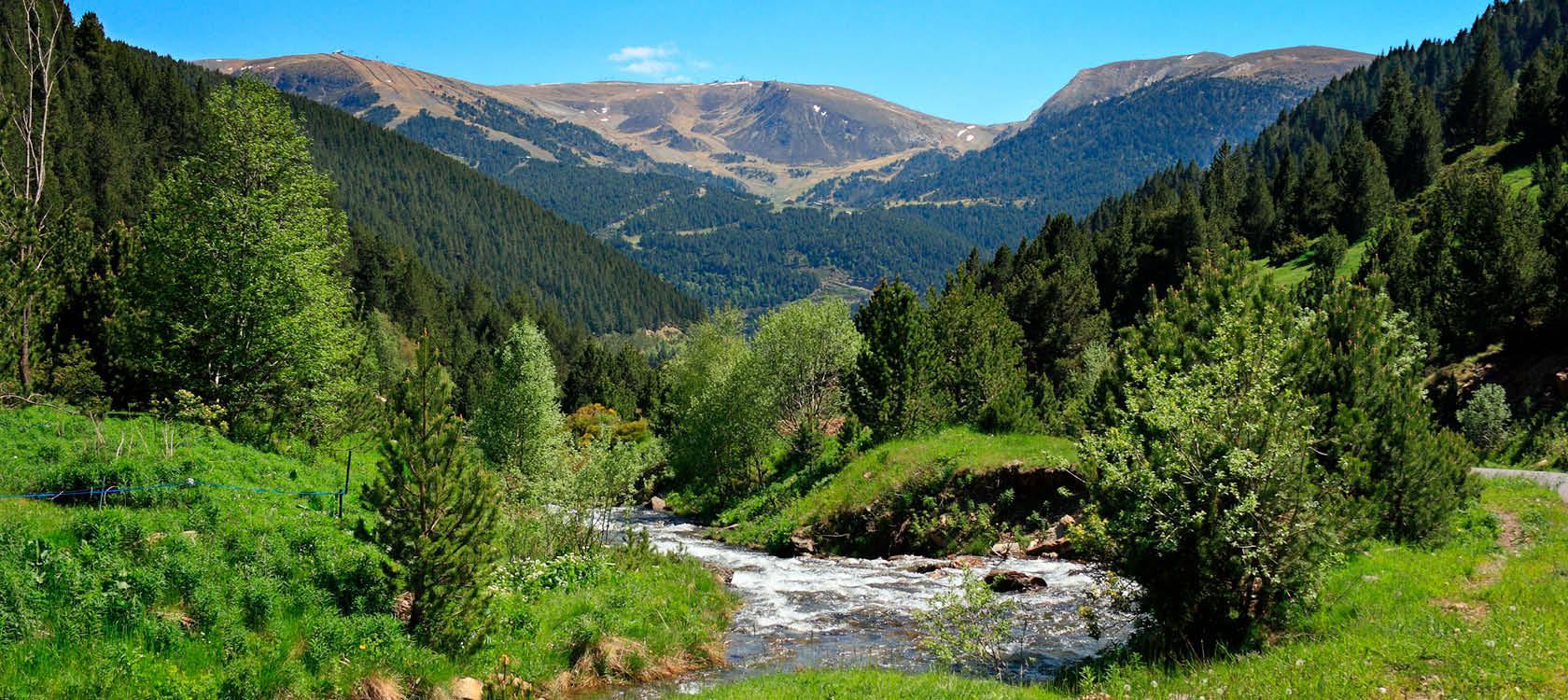 Landskab i Andorra, Spanien, Frankrig