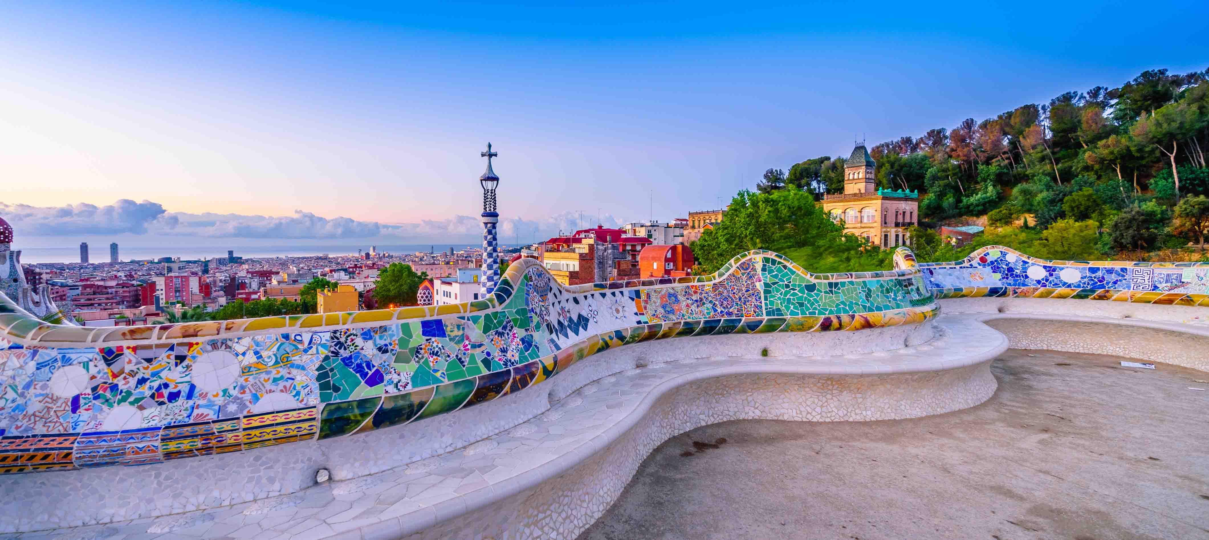 Udsigt til Barcelonas skyline, Spanien