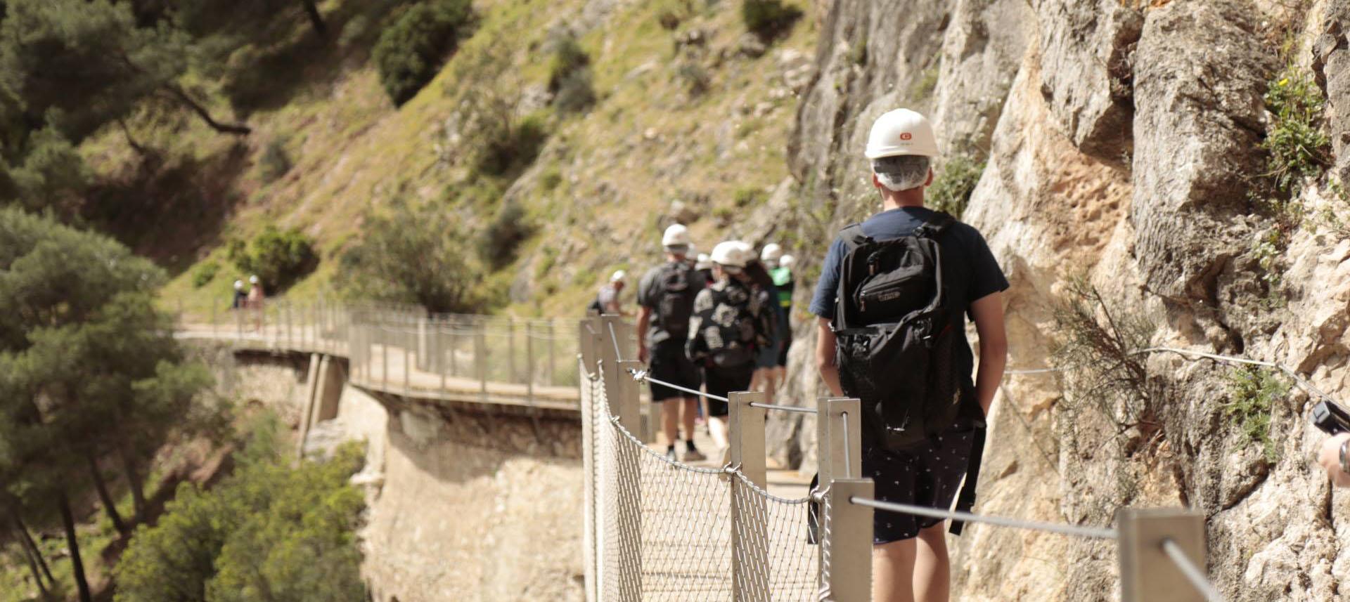 Tag på vandring på Kongestien i Spanien