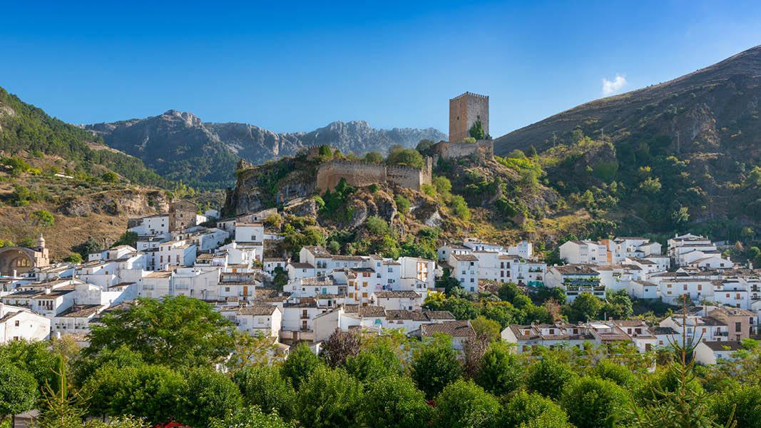 Cazorla town i Andalusien i Spanien