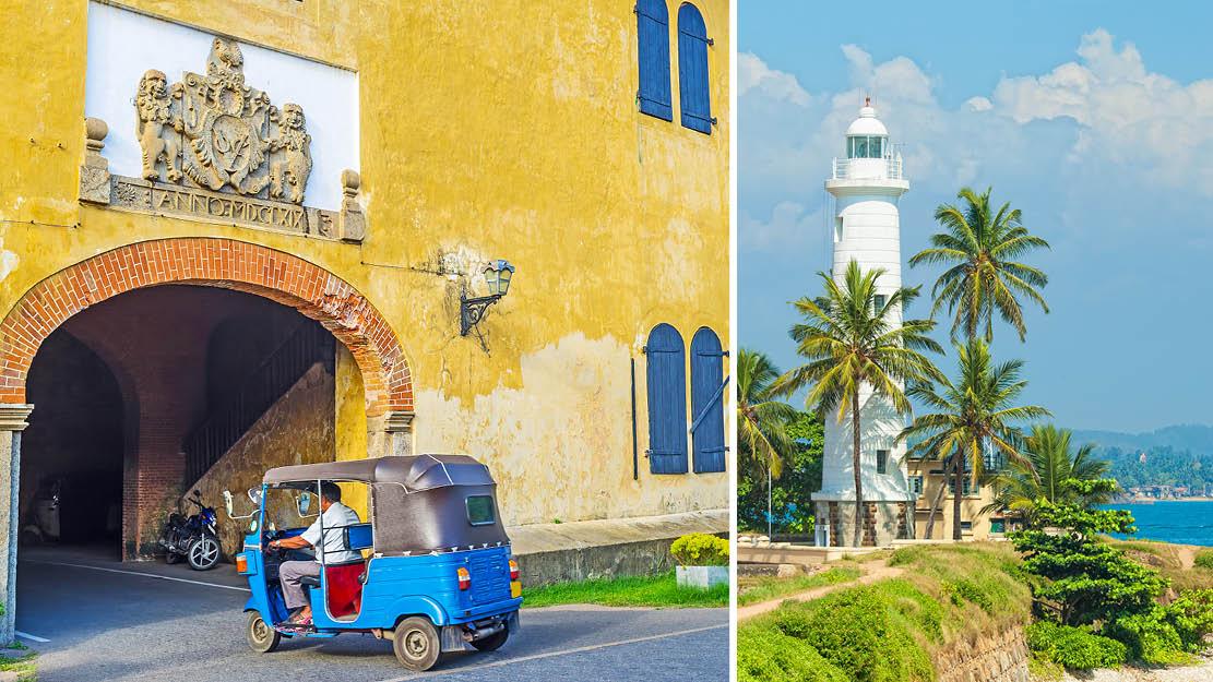 fyrtårn samt tuk tuk Galle Sri Lanka
