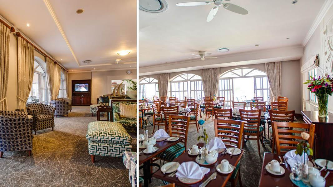 Lounge og restaurant p� courtyard port elizabeth