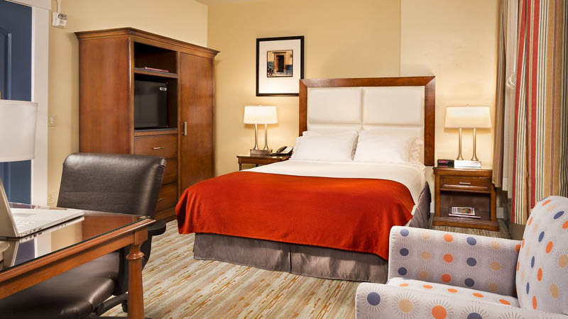 Dobbeltv�relse p� Holiday Inn Express, Santa Barbara, USA