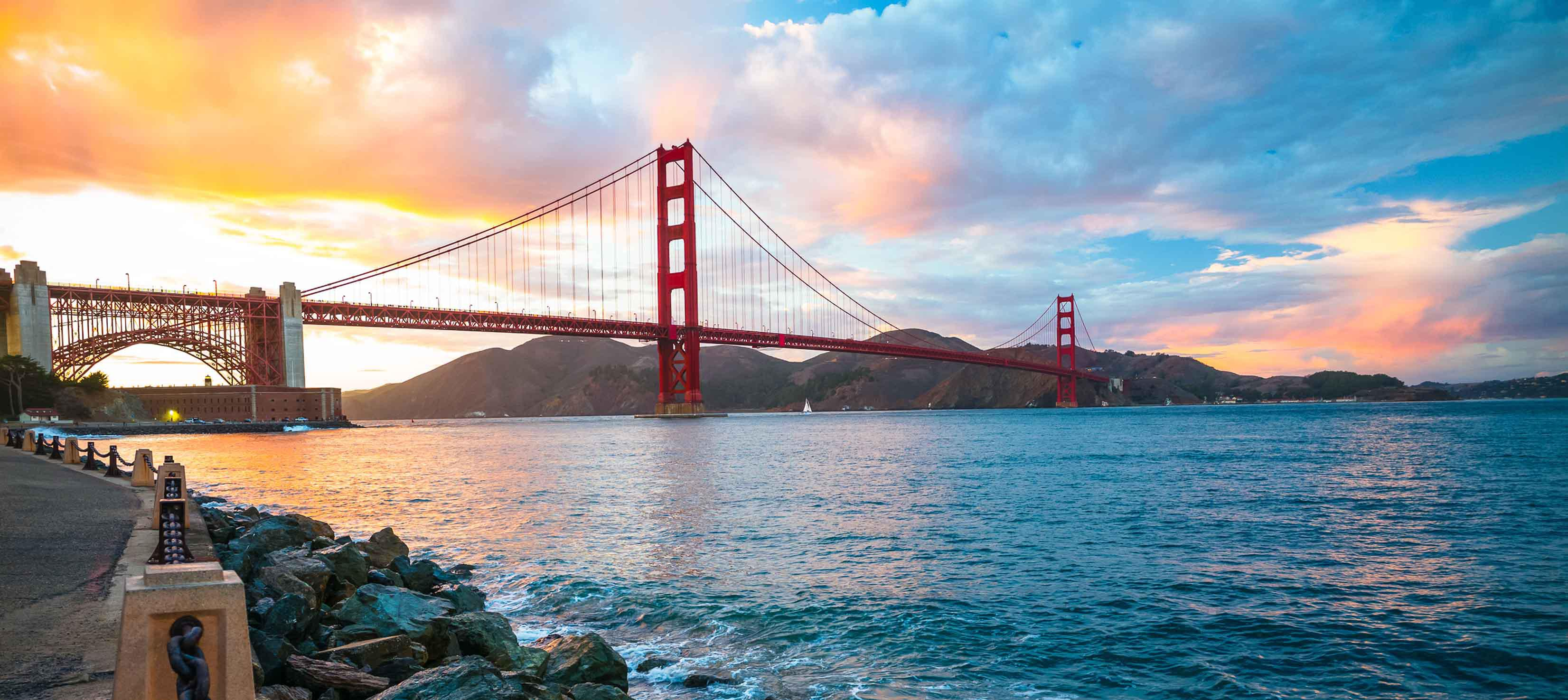 Golde Gate Bridge i San Francisco i USA